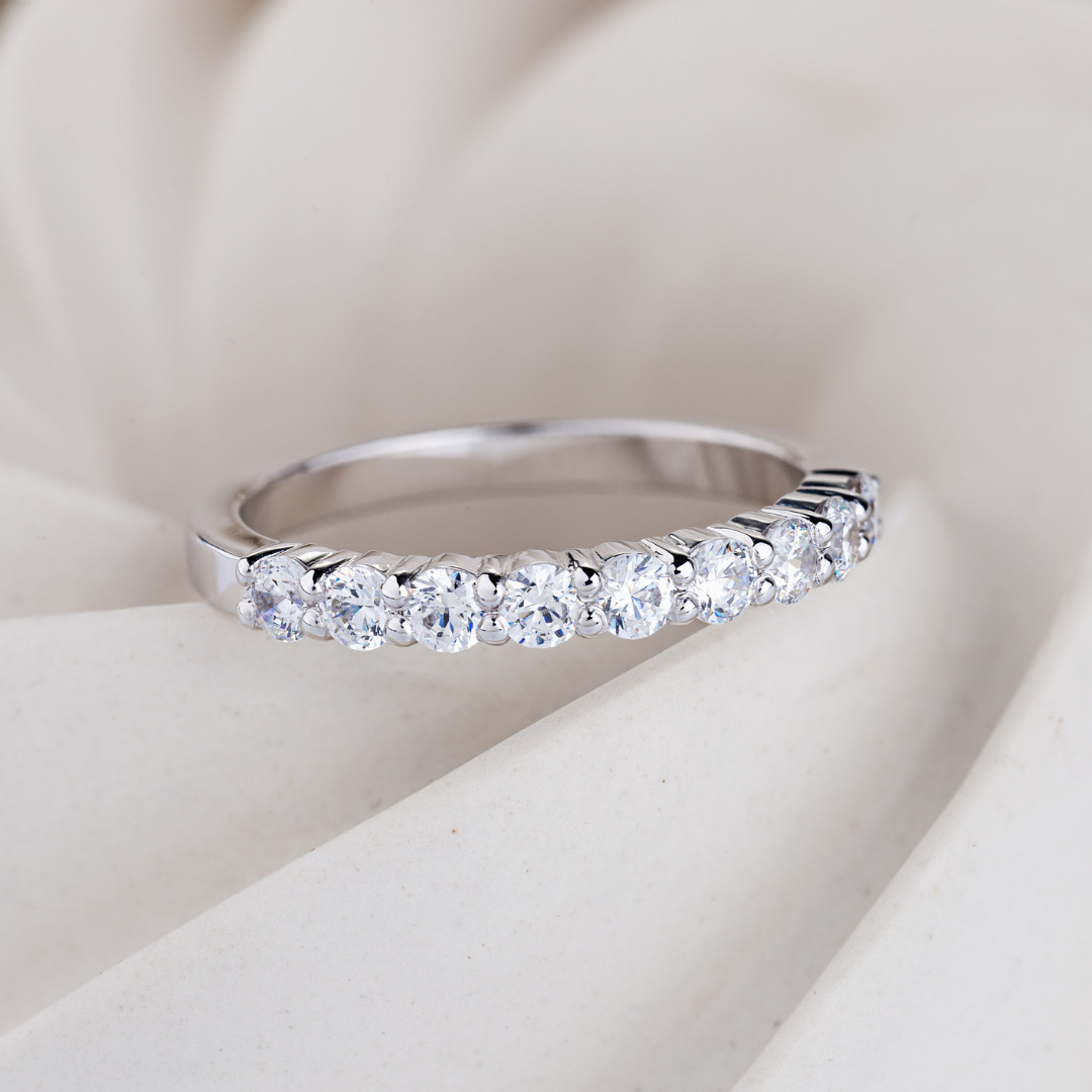 Diamonds Wedding Ring Square On White Background Picture Id1209614247
